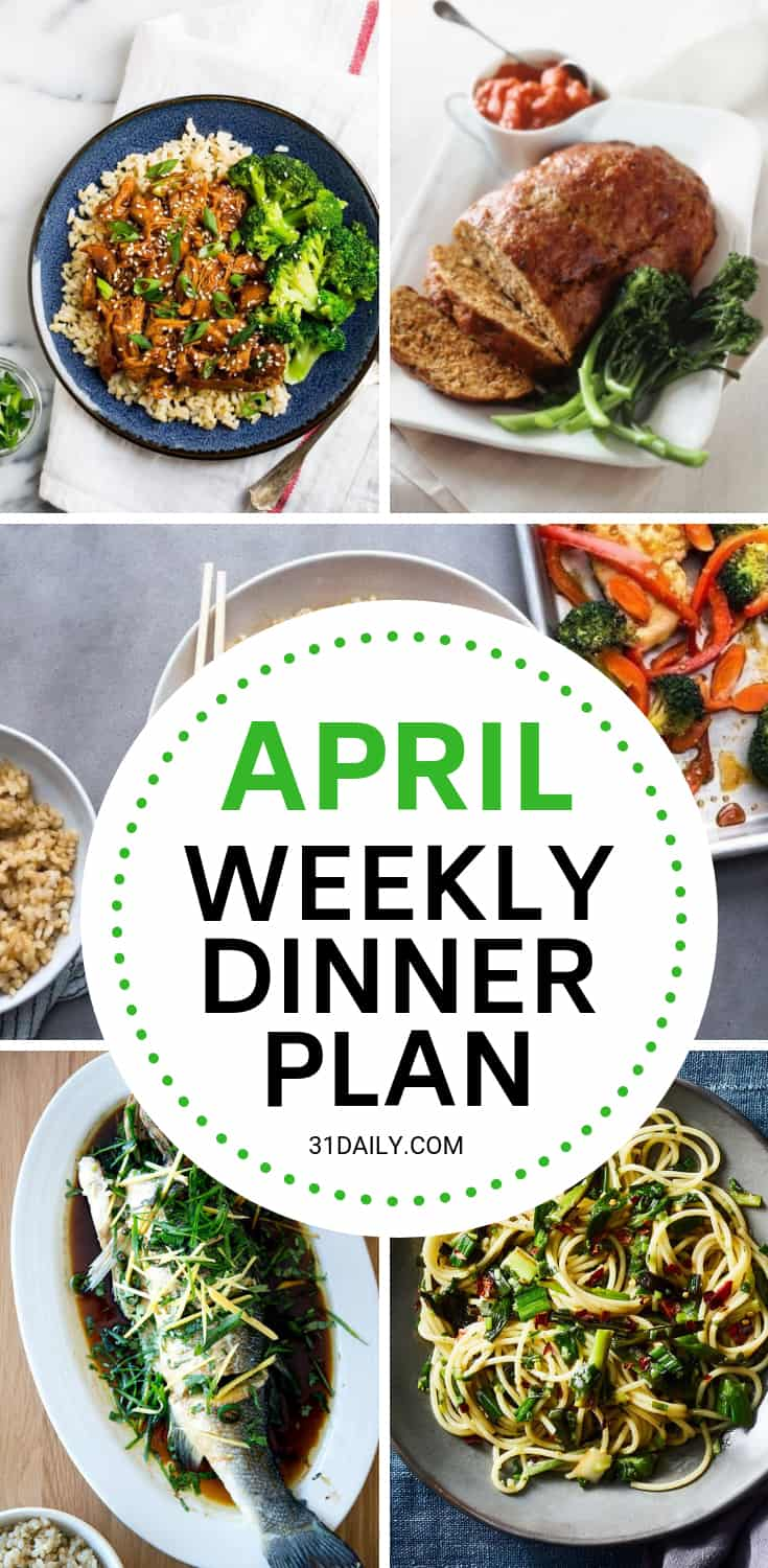 Meal Plan // Week 14: Easy April Dinners | 31Daily.com
