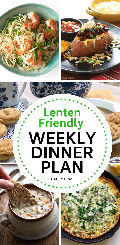Meal Plan // Week 11: Lenten Friendly Recipes | 31Daily.com