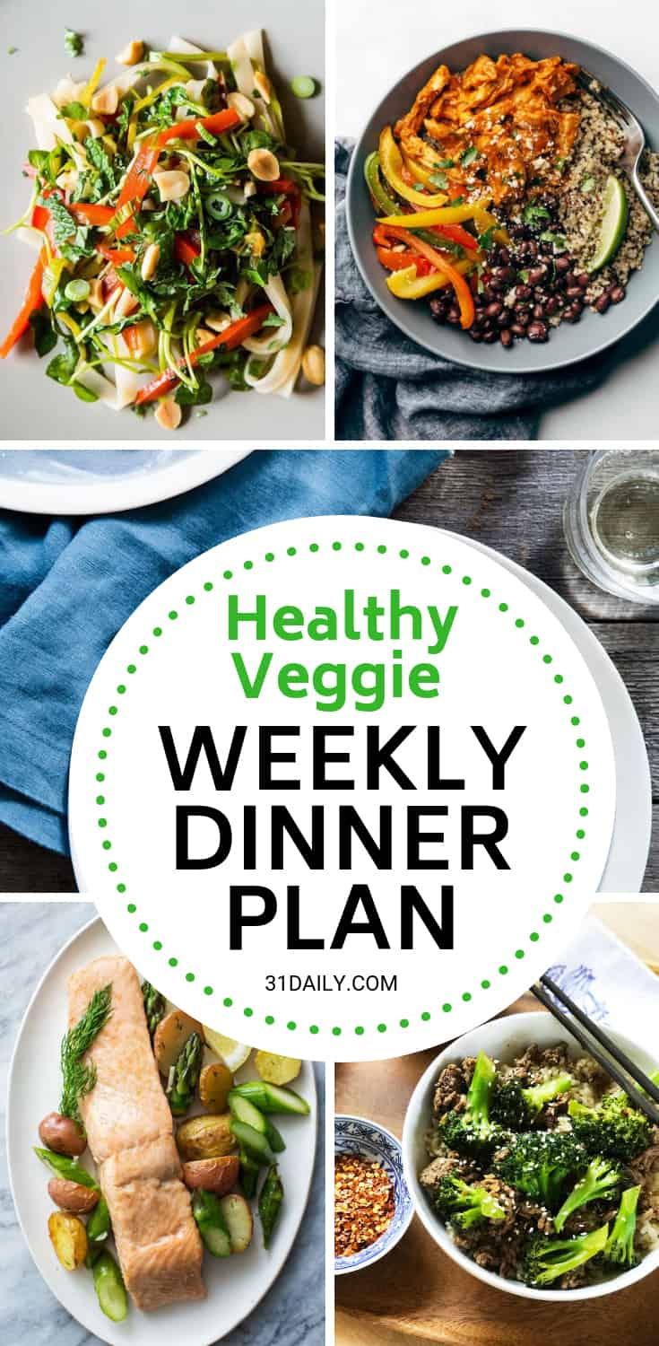 Meal Plan // Week 12: Healthy Veggie Week | 31Daily.com