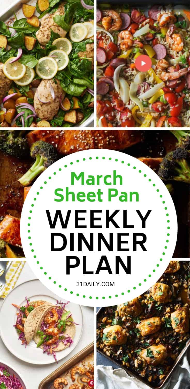 Meal Plan // Week 10: March Sheet Pan Dinners | 31Daily.com