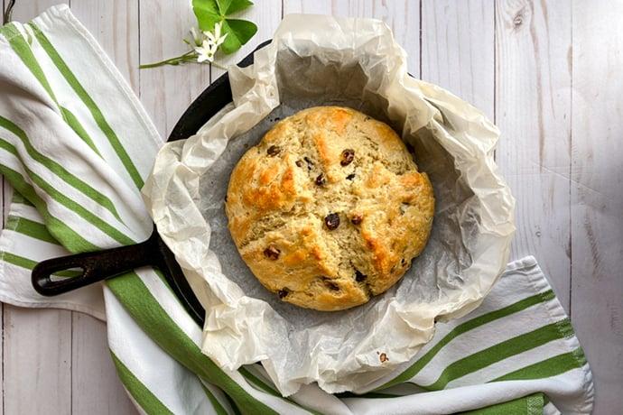 Irish Soda Bread with Buttermilk and Raisins
