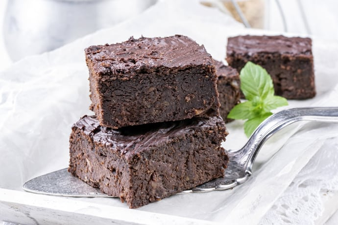 Fudgy Mint Chocolate Brownies