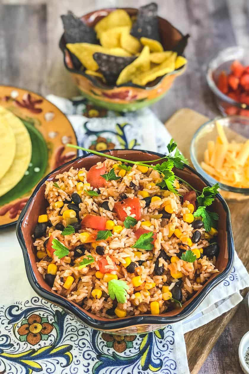 Instant Pot Mexican Rice with Corn and Black Beans | 31Daily.com