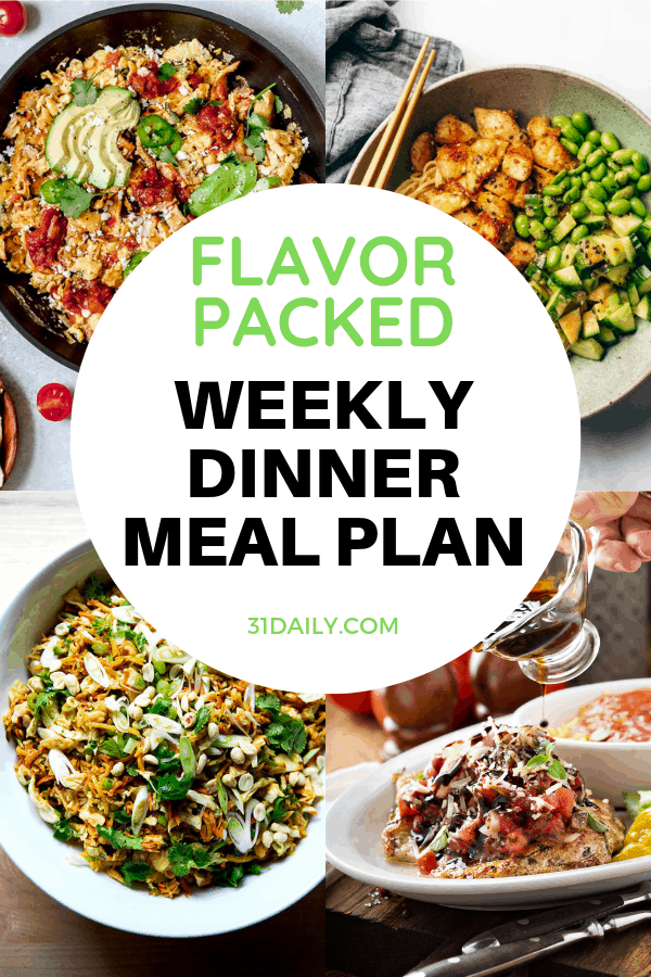 Dinner Meal Plan // Week 16: Easy Flavor Packed Dinners | 31Daily.com