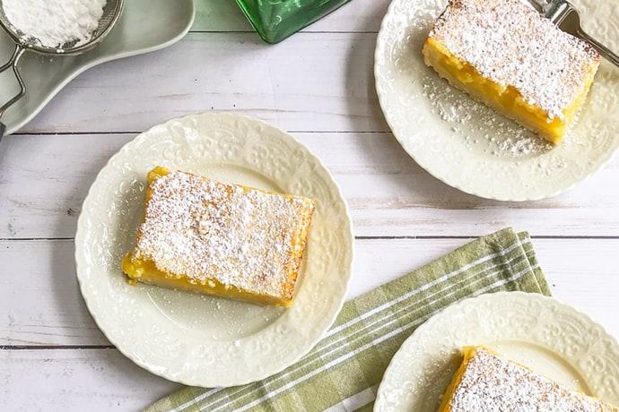 Easy Lemon Bars with Zested Shortbread Crust