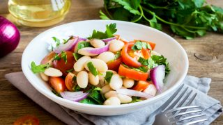 Simple and Healthy White Bean Olive Salad