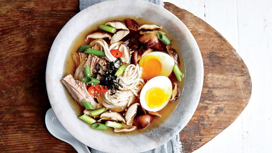 Slow Cooker Ramen Bowl