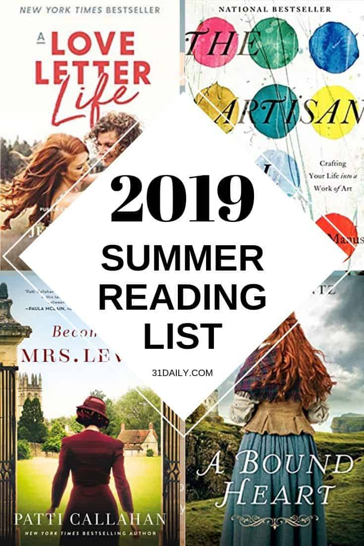 Pinterest Pin: 2019 Summer Reading List