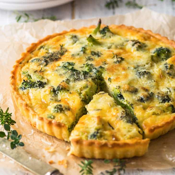 Vegetarian Broccoli Quiche