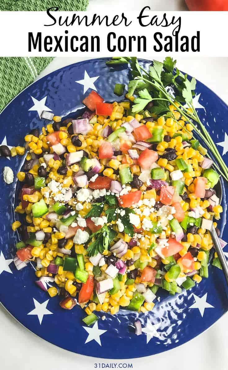 Pinterest Pin - Mexican Corn Salad
