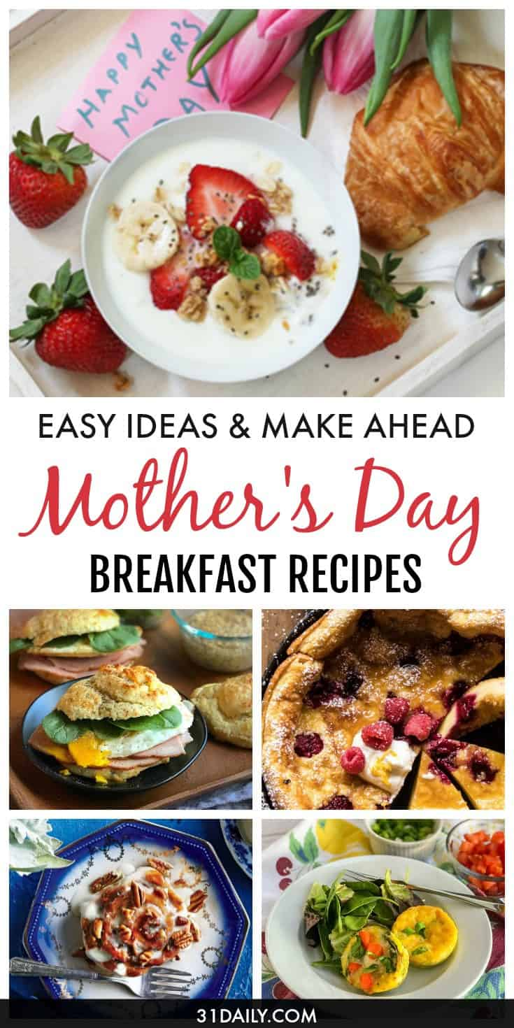Easy Mother's Day Breakfast Recipes Mom Will Love | 31Daily.com