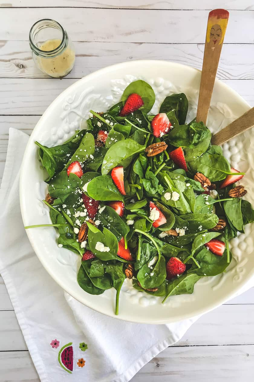 Strawberry Spinach Salad with Feta and Toasted Pecans | 31Daily.com