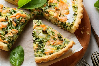 Salmon Quiche With Spinach Dill And Mozzarella 31 Daily