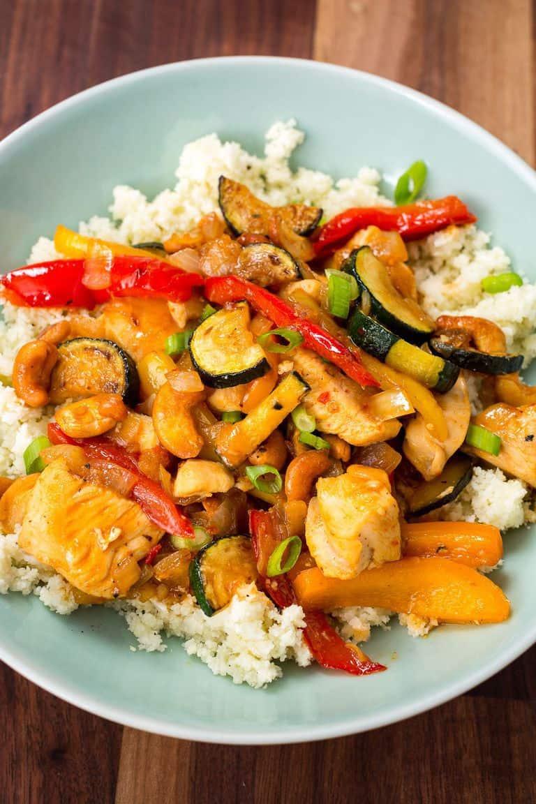 skinny cashew chicken