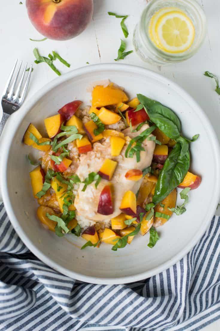 Instant Pot Peach Chicken & Basil