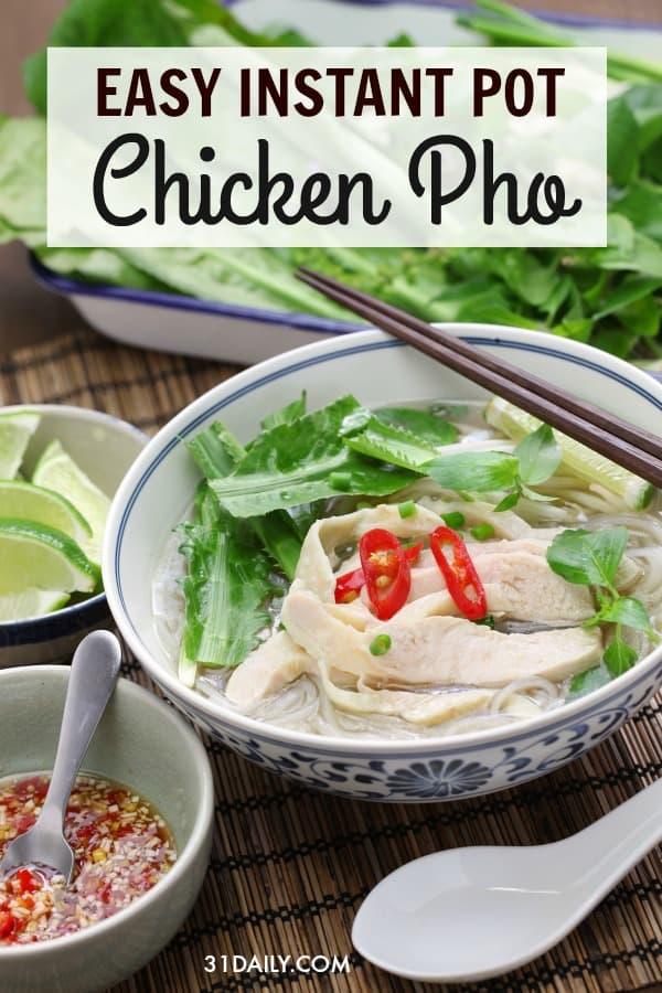 Pinterest Pin: Instant Pot Chicken Pho