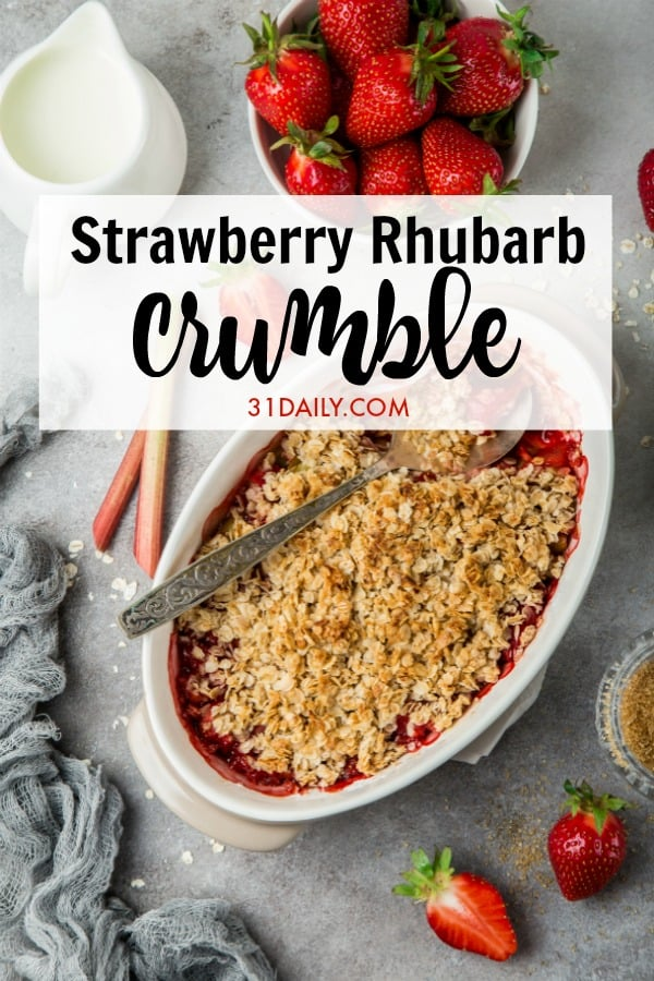 Strawberry Rhubarb Crumble Pinterest Pin