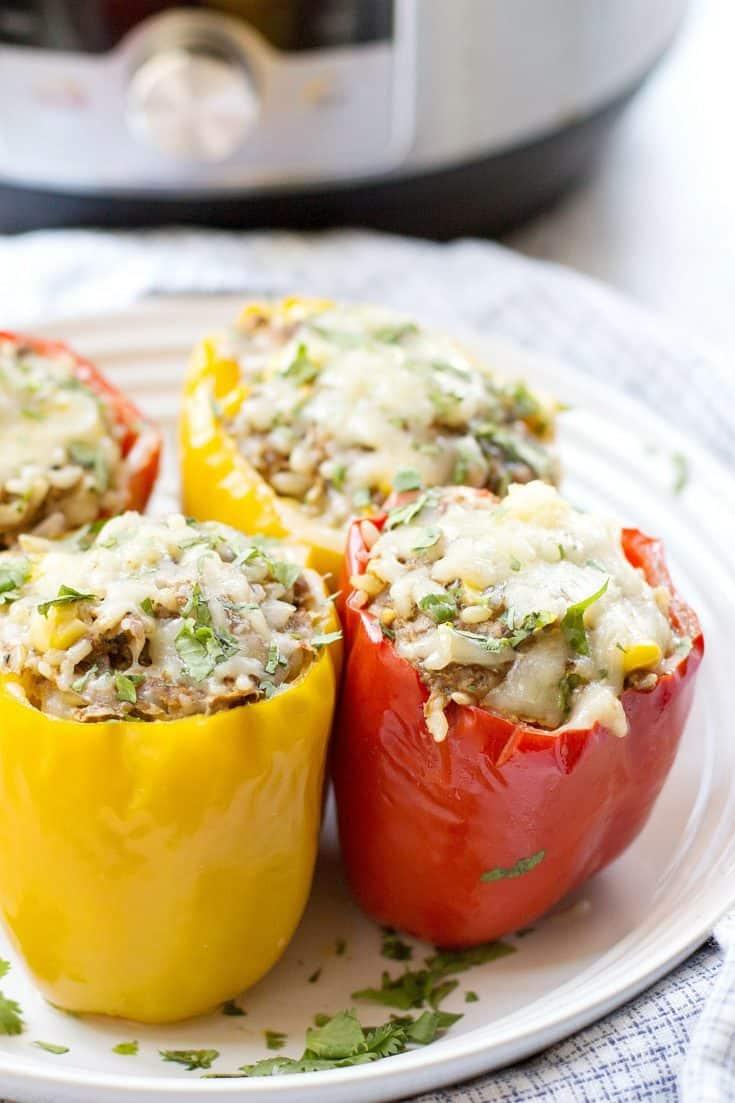 Instant Pot Stuffed Peppers {Cajun Spiced!} | SimplyRecipes.com