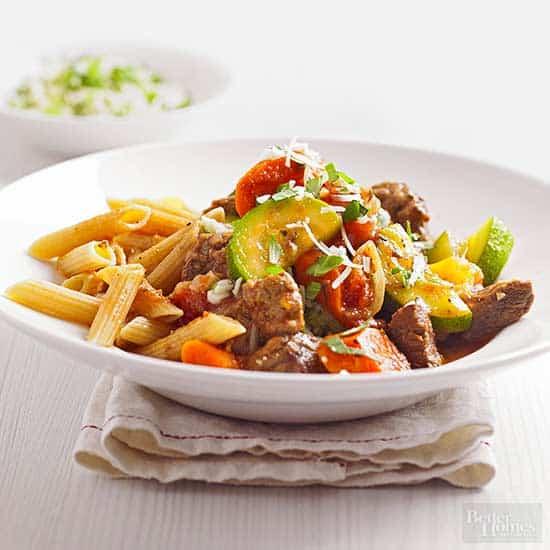 Mediterranean Beef with Pasta