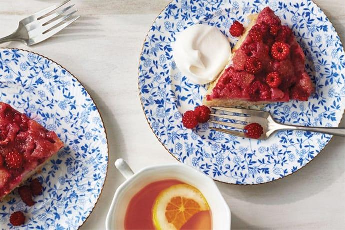 instant pot raspberry upside down cake