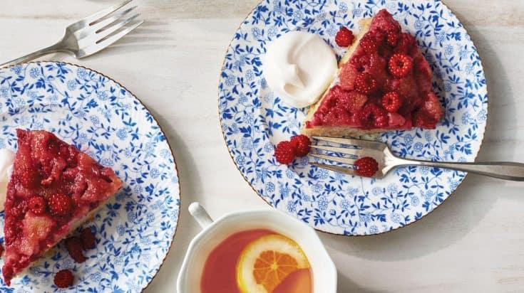 Pressure-Cooker Raspberry Upside-Down Cake