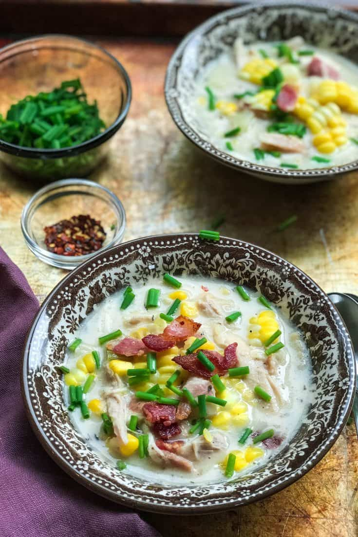 Instant Pot Chicken Corn Chowder