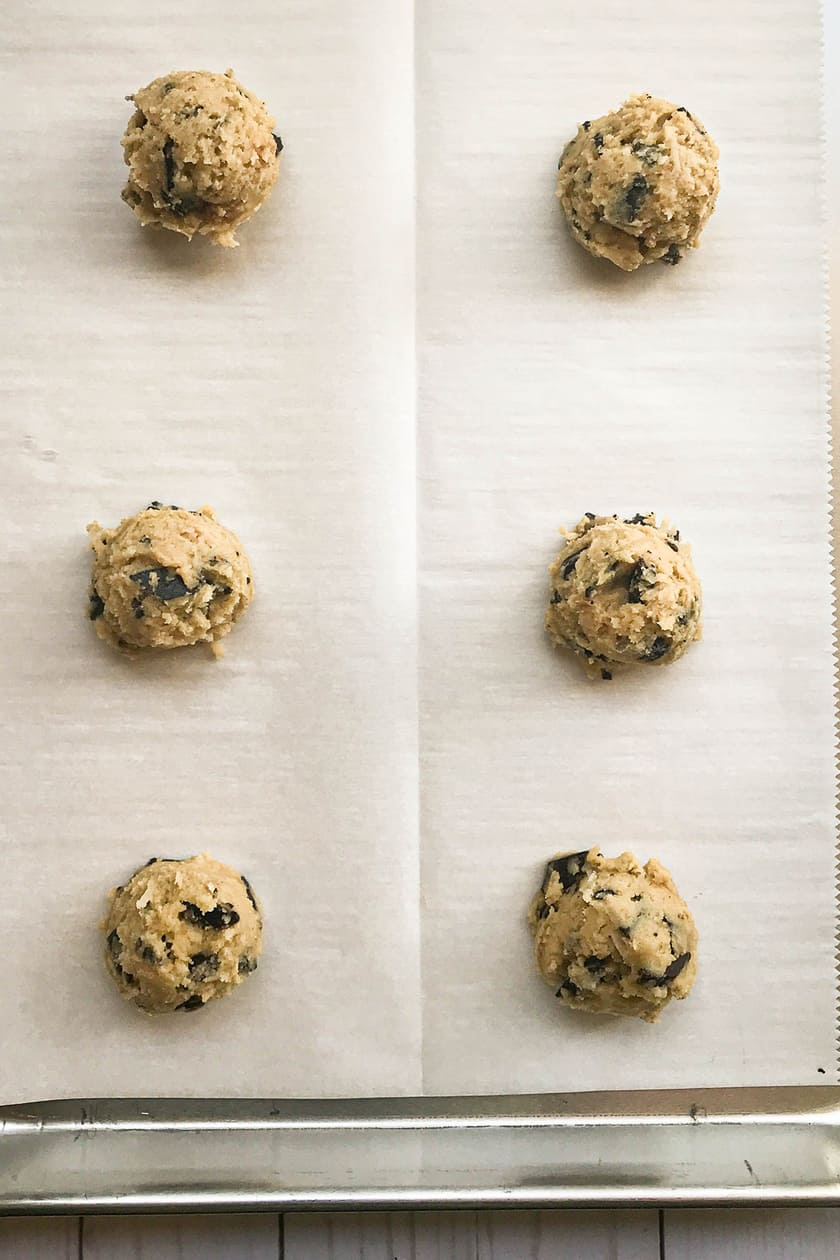 Cookie Dough ready to be baked