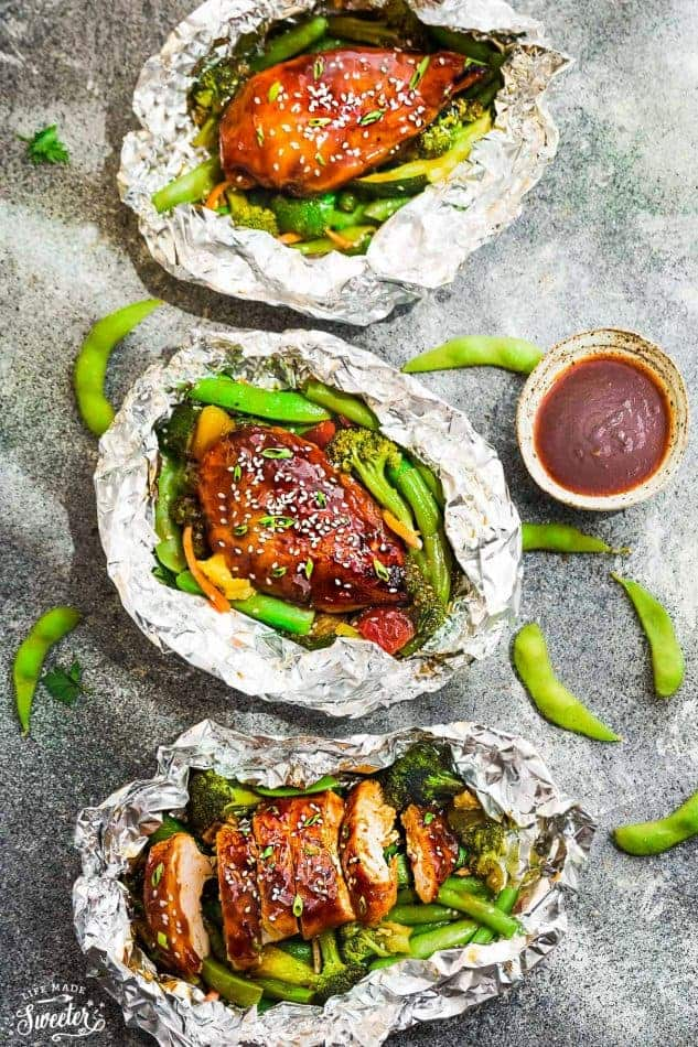 Teriyaki Chicken Foil Packets with Vegetables - Life Made Sweeter