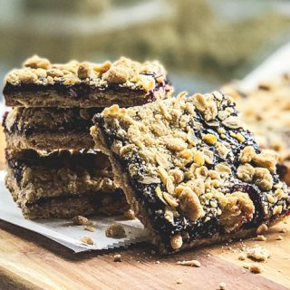 Blackberry Jam Bars cut into squares
