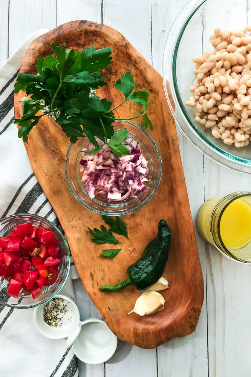 Ingredients for White Bean Salad