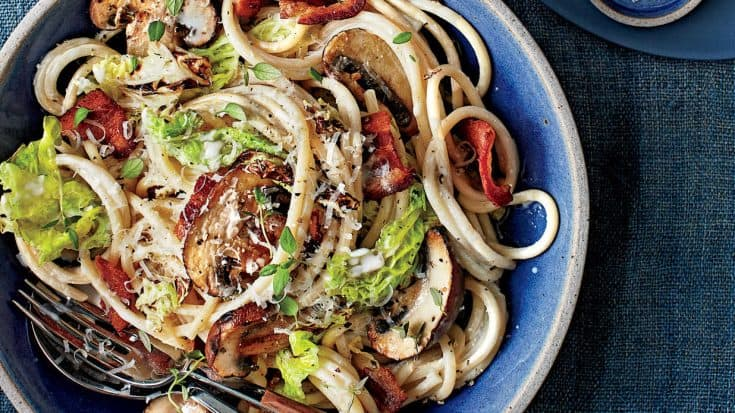 Cabbage, Mushroom, and Bacon Pasta Recipe