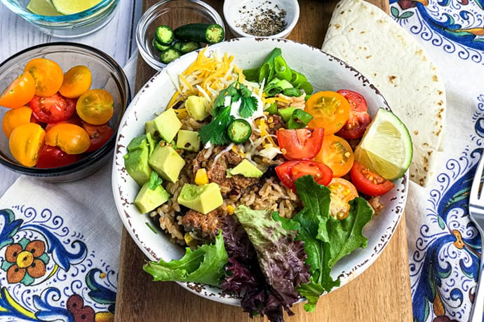 Easy Instant Pot Turkey Burrito Bowl Recipe