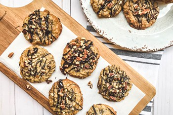 thumbnail size photo of oatmeal chocolate chip cookies