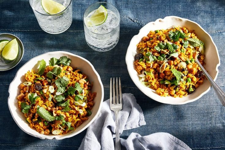 Monday: Crispy Chickpea Rice Pilaf