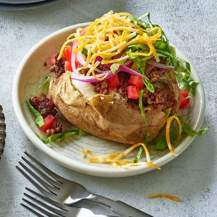 Friday: Cheeseburger Stuffed Baked Potatoes Recipe