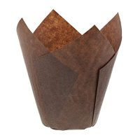 Royal Brown Tulip Style Baking Cups, Large, Sleeve of 200