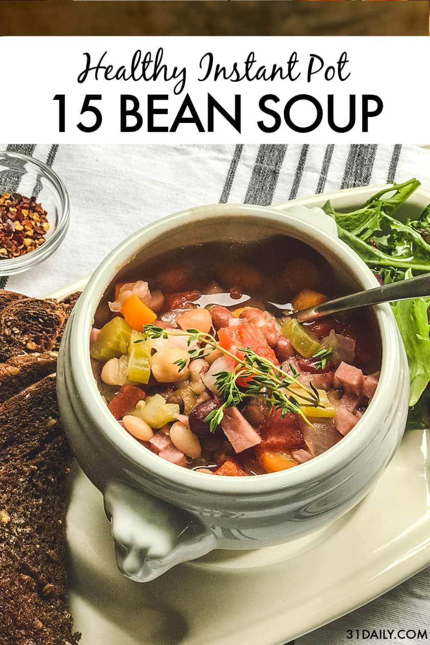Pinterest Pin 15 Bean Soup