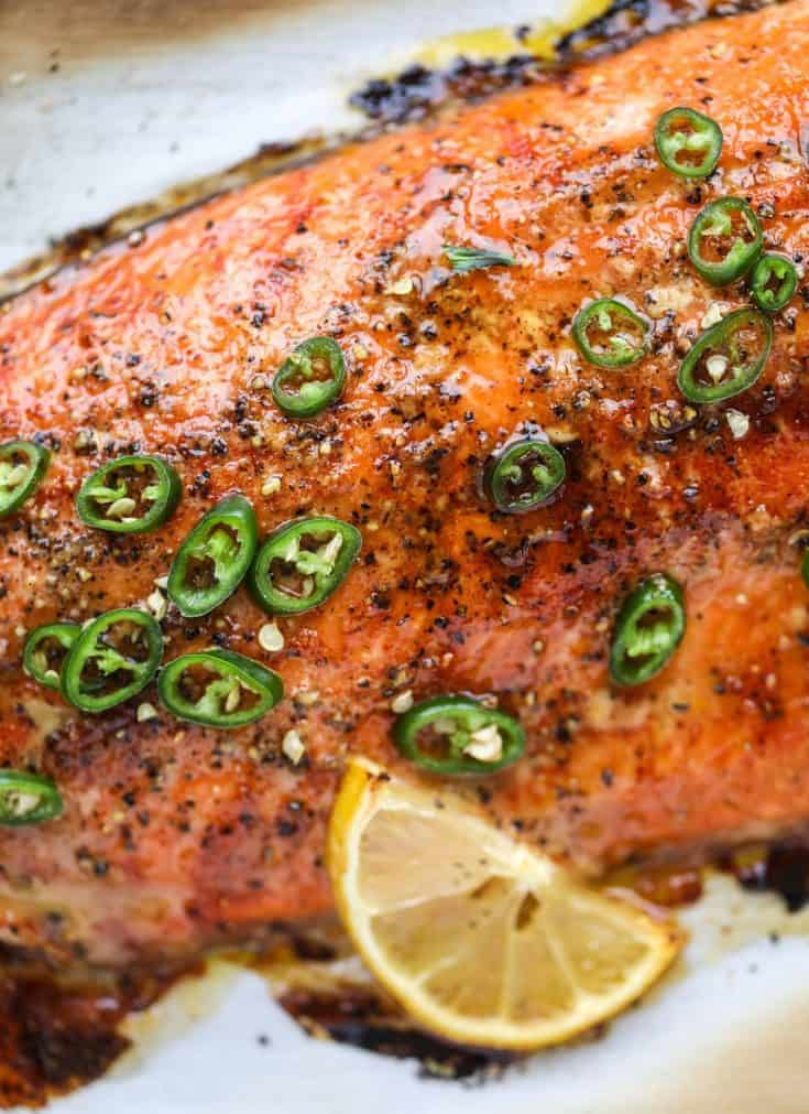 Wednesday: Hot Honey Roasted Salmon