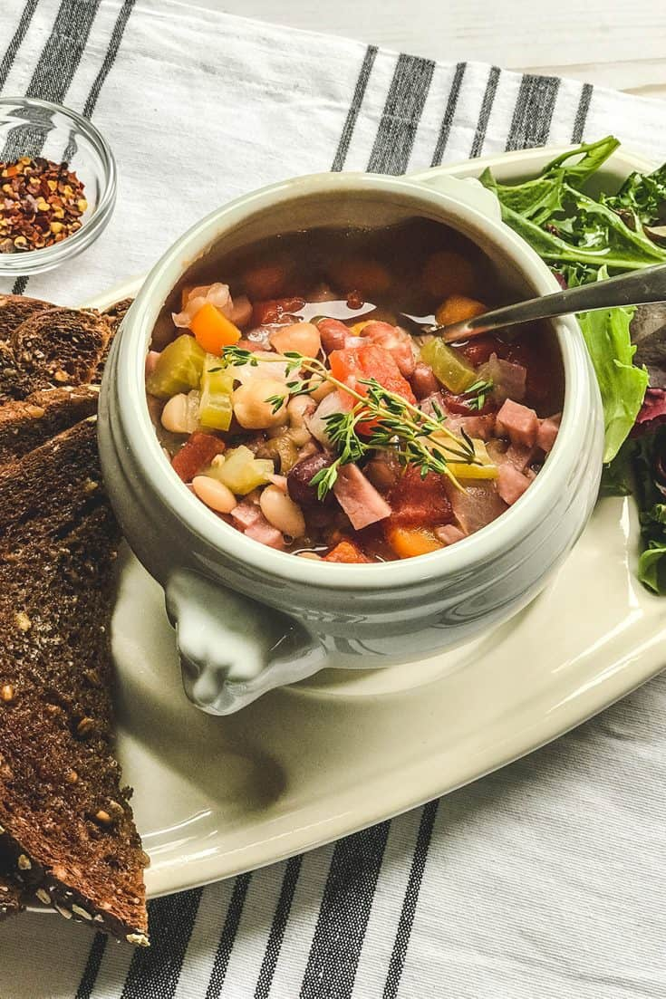 Tuesday: Instant Pot 15 Bean Soup with Ham