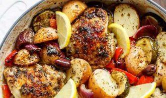 dinner meal plan: Mediterranean Chicken