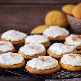 Easy Pumpkin Cookies with Vanilla Butter Icing