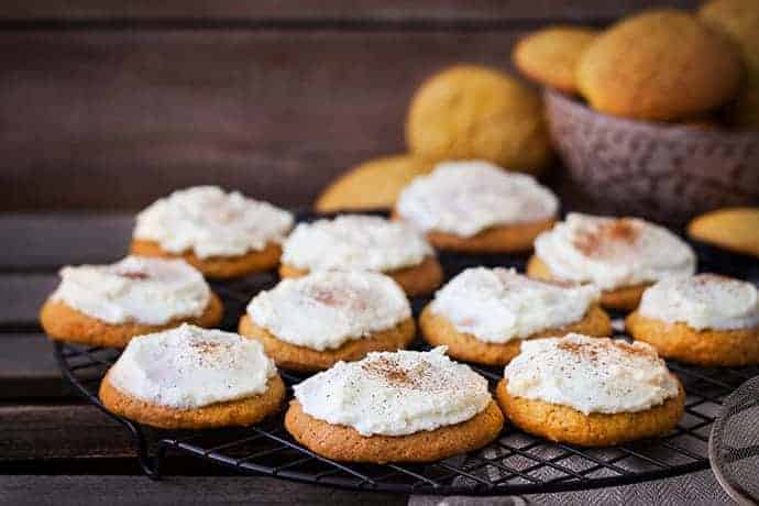 Pumpkin Spice Cookies that Melt in Your Mouth