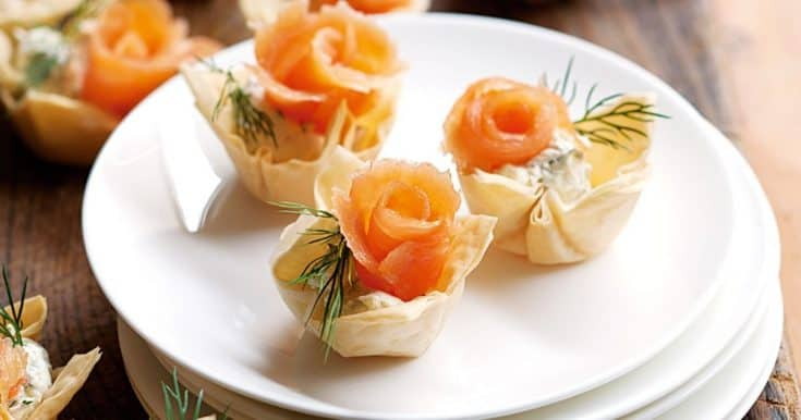 Smoked salmon tartlets