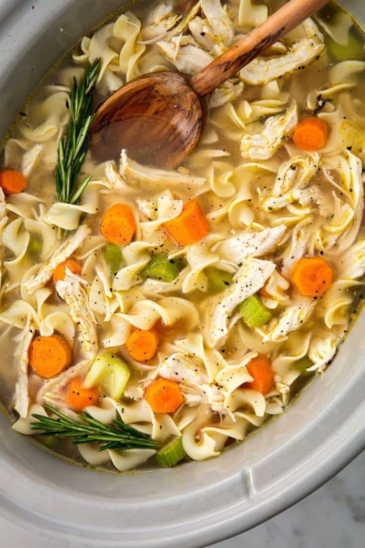 Tuesday: Easy Crockpot Chicken Noodle Soup