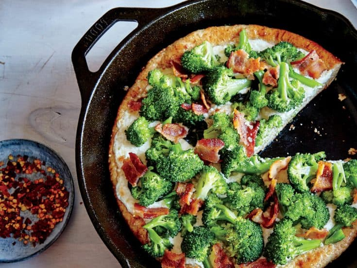 Wednesday: Broccoli-Bacon Skillet Pizza