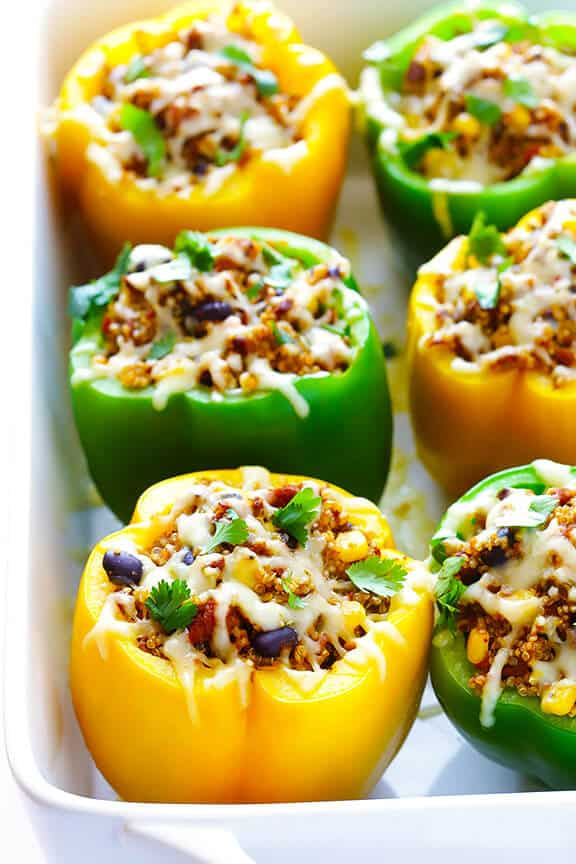 Wednesday: 5-Ingredient Mexican Quinoa Stuffed Peppers