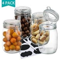 Wide Mouth Glass Mason Jars