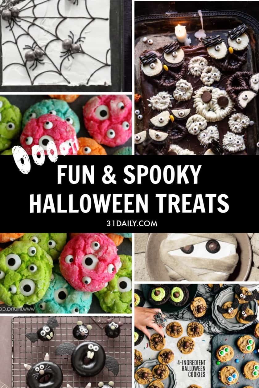 Pinterest Pin for Spooky Halloween Treats