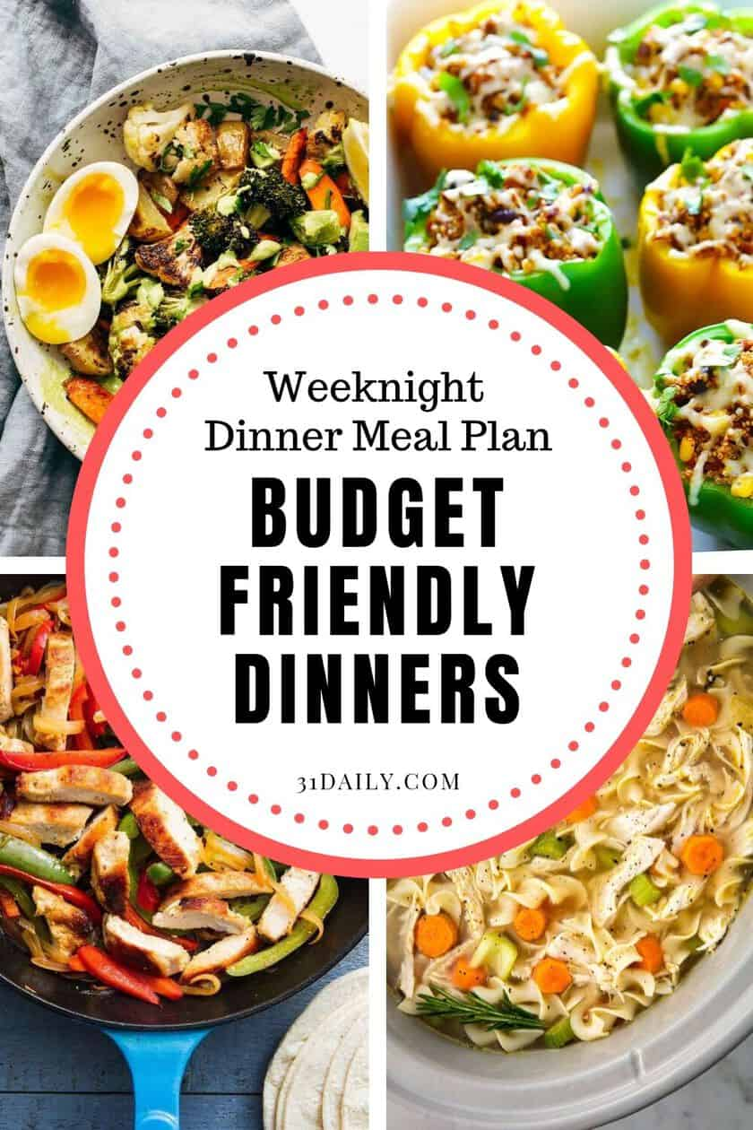 Pinterest Pin Weeknight Dinners