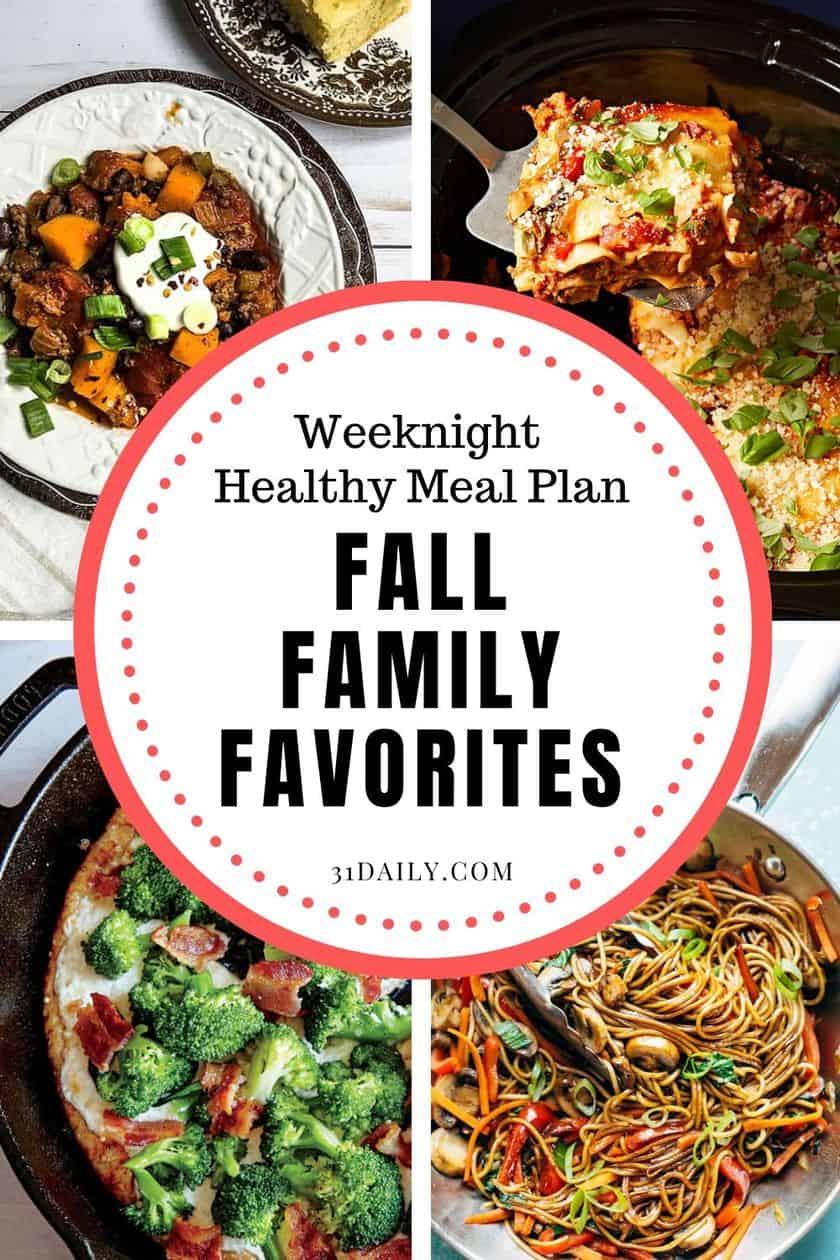 Pinterest Pin for Family Favorite Dinners